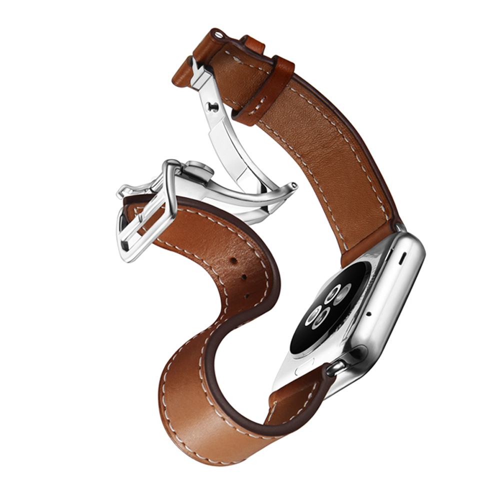 leather wrist watch band for apple watch 3/2/1 42mm/38mm bracelet metal buckle belt watch band for iwatch watch accessories metal buckle belt 3 pcs