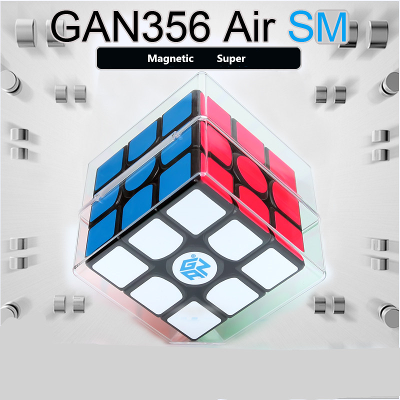 GAN356 Air SM Cube Magique Professionnel 3x3x3 356Air SM Magenetic Vitesse Cube Noir version puzzles cube Gan 356air sm