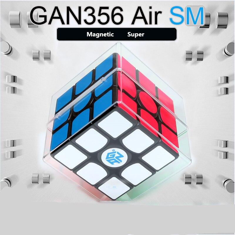 GAN356 Air SM Cube magique professionnel 3x3x3 356Air SM Cube de vitesse magnétique noir version puzzles cube Gan 356air sm