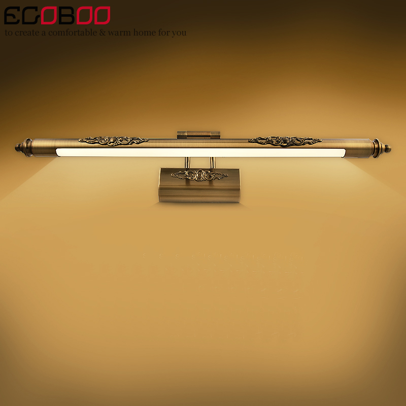 EGOBOO Traditional Style LED Wall Lamps In Bathroom With Swing Arm 50CM 70CM 90CM Long Over