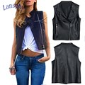 Fashion European 2016 Autum & Winter PU leather Women Motorcycle Leather Jacket Slim Casual Tops Locomotive Short Vest Coats
