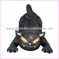 Good quality 10ft long lowes halloween inflatable cat outdoor decoration