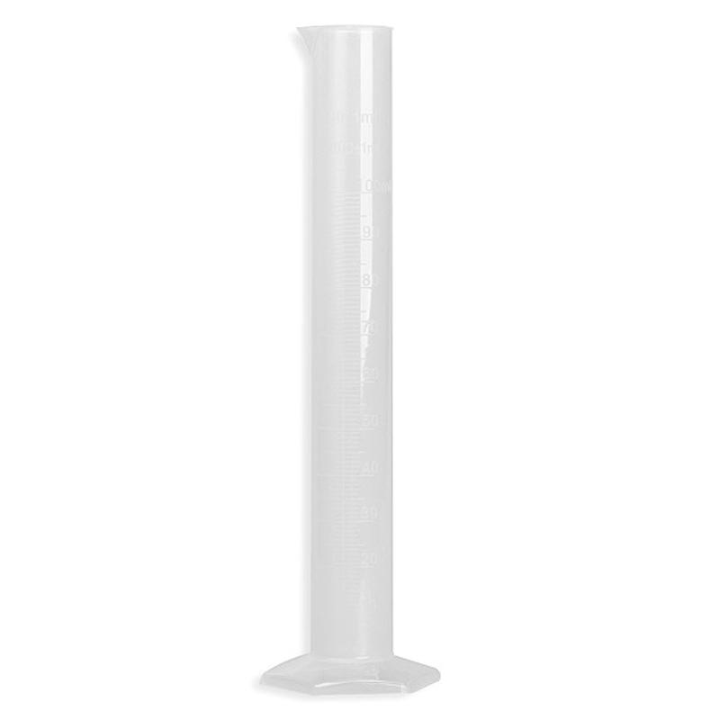 100ml Translucent Plastic Laboratory Cylinder Graduated Measuring Cylinder Tools for Chemistry Laboratory Test School Supplies