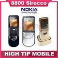 Original nokia 8800 sirocco 128 mb desbloqueados 8800 s idioma del teclado ruso + cargador de sobremesa + funda libre reformado