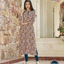 6e1159241f3f4 Hint Geleneksel Kurti 3 Çeyrek Kollu Pamuk Kurta Bollywood Tasarımcı Şık  Tunik Baskılı Üst Kadın Elbise Günlük Parti Giyim