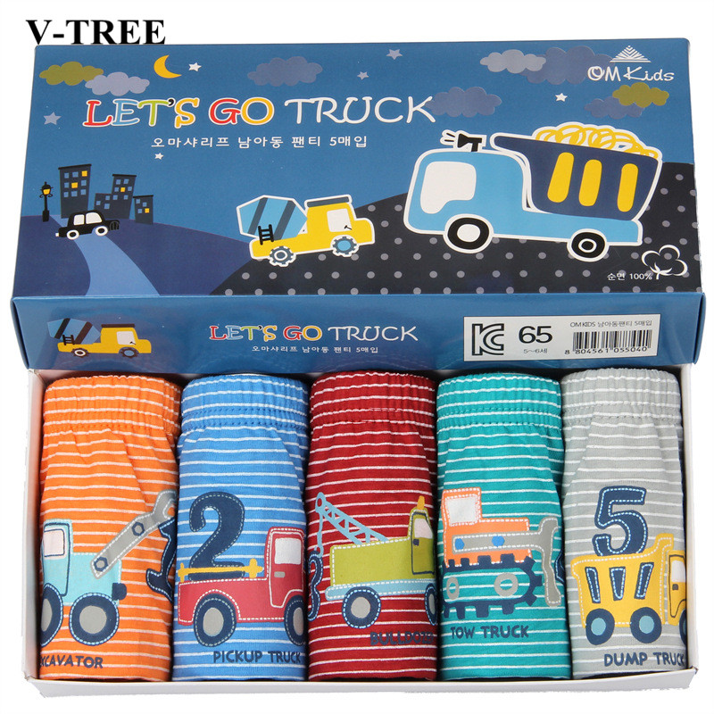 V-TREE Boxers Boys Underwear Cartoon Baby   Panties   Cotton Boys Briefs Teenage   Panties   For Boys