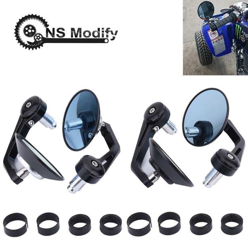 """NS Modify 1pair 7/8"""" Round Handlebar Motocycle Rearview Mirrors Moto End Motor Side Mirrors Motorcycle Cafe Racer Accessories"""