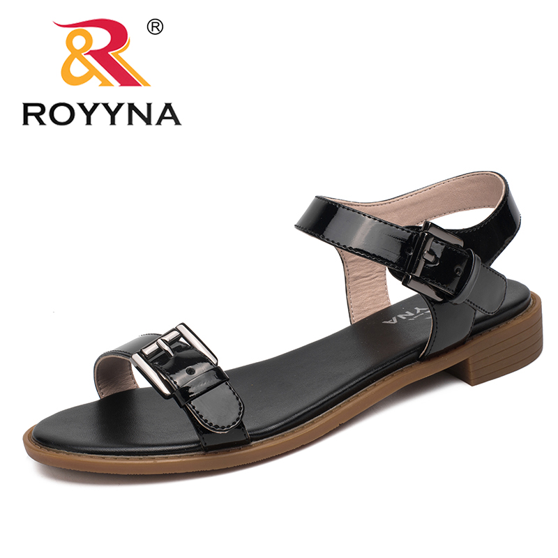 ROYYNA New Classics Style Women Sandals Outdoor Walking Summer Shoes Plats Comfortable Women Slippers Soft Fast Free Shipping royyna new sweet style women sandals cover heel summer gingham women shoes casual gladiator ladies shoes soft fast free shipping
