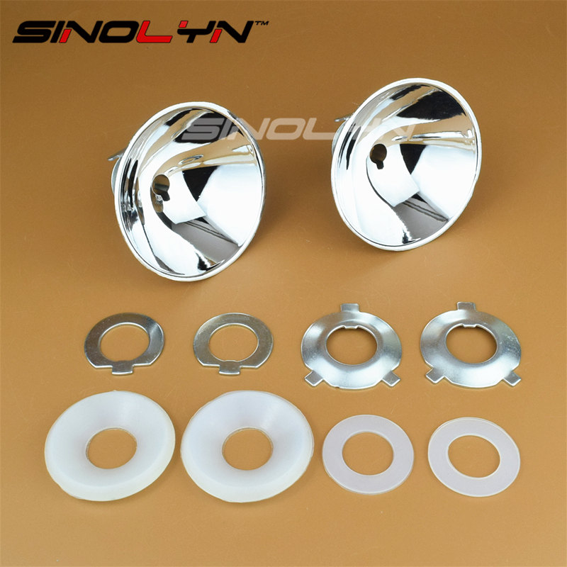 Sinolyn H7 Car Headlight Reflector High Beam A8 Reflect Bowl Heat Resisting 35W H1 HID Xenon Lamp Light Bulbs Accessories Tuning