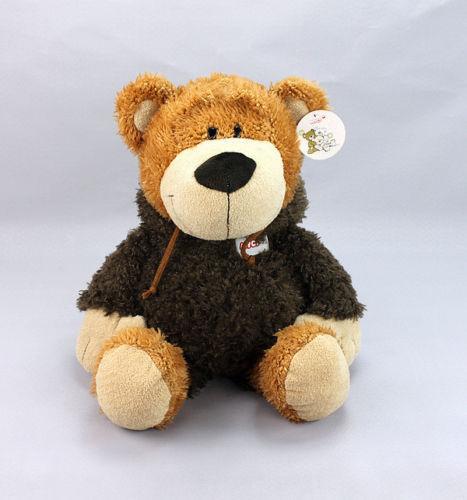 Muñeco de peluche de peluche Nici, oso feliz, ropa, bata, regalo de cumpleaños, 1 pz.