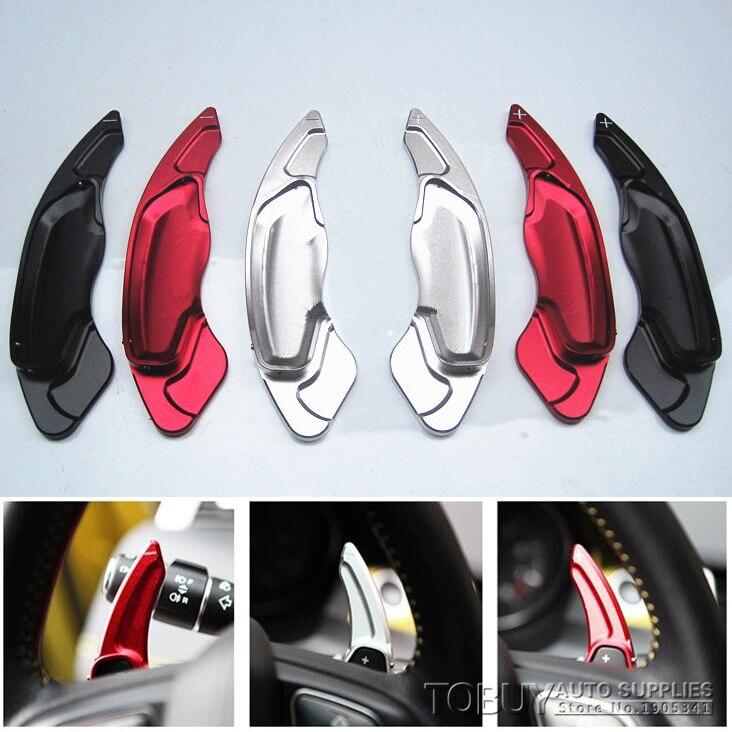 DEE Accessoire De Voiture pour Volvo S60 XC60 XC70 S80 V60 V40 En Aluminium Carénage de Changement de Volant Paddle Shifter Extension Autocollant
