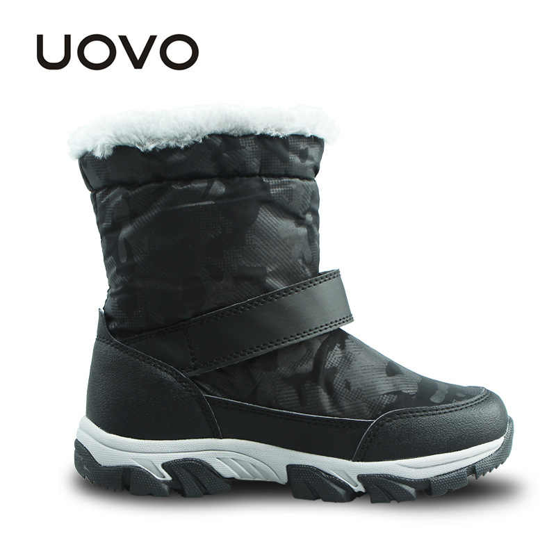 b4baca1d51c22 ... UOVO Kids Snow Boots Winter Thermal Shoes For Boys Girls Shoes Nonslip  Shoes Waterproof Purple Boots ...