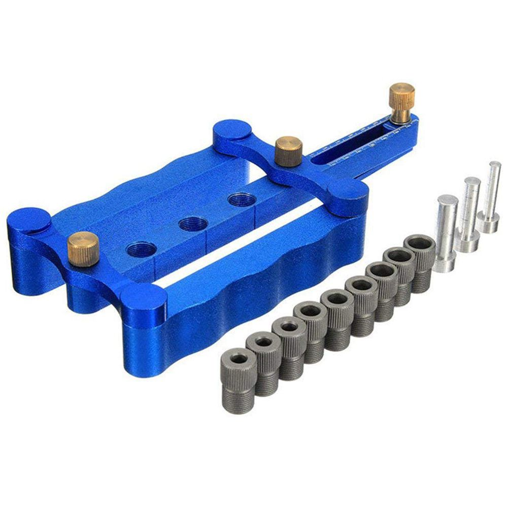 1Set Mini Kreg Style Pocket Hole Jig Kit System for Wood Working Joinery and Step Drill