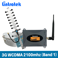 Gain 65dB Signal Repeater 3G UMTS WCDMA 2100MHz LTE Band 1 Mobile Signal Booster Full Set