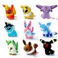 9pcs/set Anime Poke Plush Toys Cute Umbreon Eevee Espeon Jolteon Vaporeon Flareon Glaceon Leafeon Animals Stuffed Doll Toys