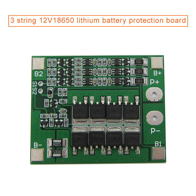 3 String Battery Protective Board PCB Board With Balance 12V WIF66