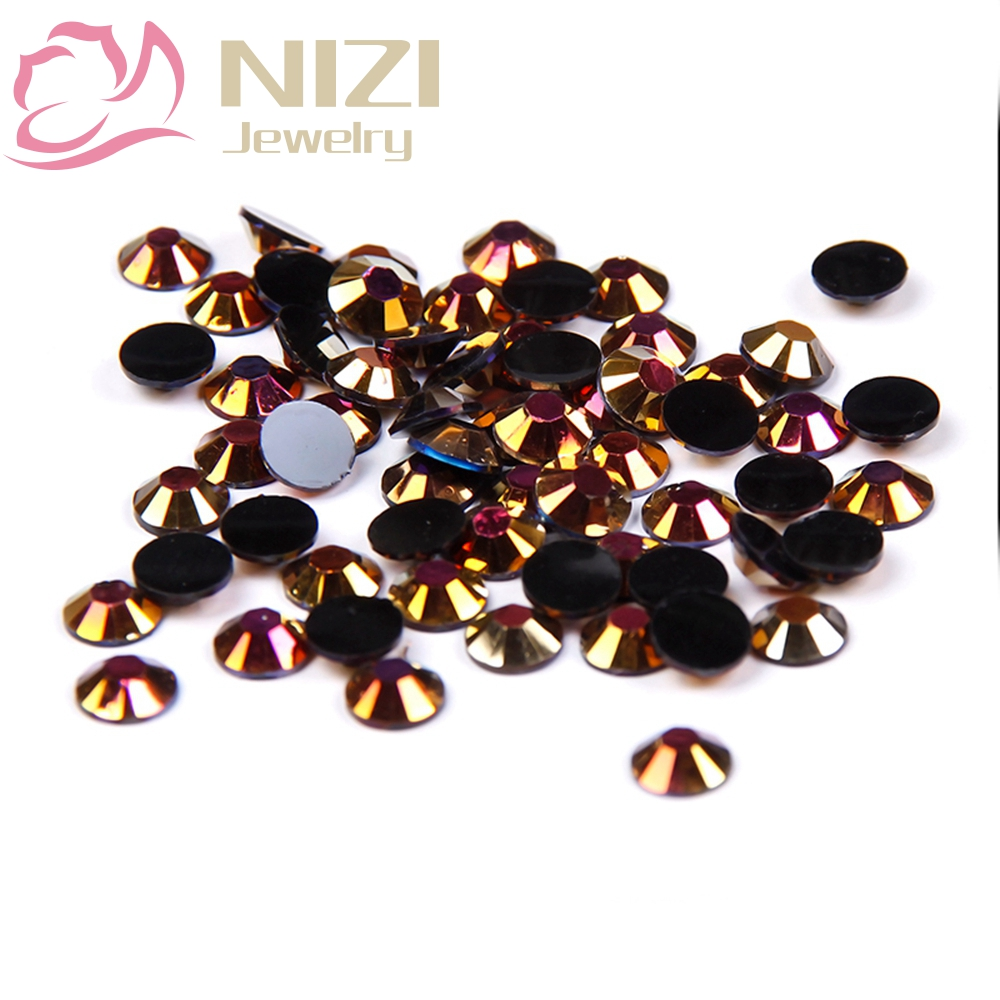2016 Jelly Flatback Resin Rhinestones 2-6mm Gold Black AB Color Non Hotfix Stones For 3D Nail Art Decorations DIY New Design gitter 2 6mm citrine ab color resin rhinestones 14 facets round flatback non hotfix beads for 3d nail art decorations diy design