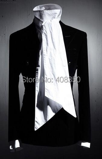 Vintage Tuxedo Dress Shirts Mens Fashion Bowknot Long Sleeve Designer Brand White Black Shirt Chemise Homme 2015 New  (6).jpg