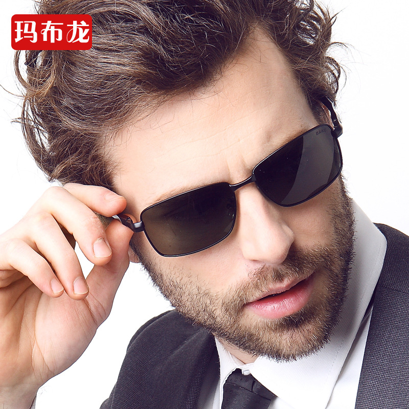 Luxury metal frame spring hinge polarized sunglasses metal frame for men good quality comfortable feather light sun glasses 2312