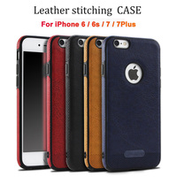 Luxury Case For IPhone 6 6s Plus Case PU Leather Stitching Soft Case For IPhone 7