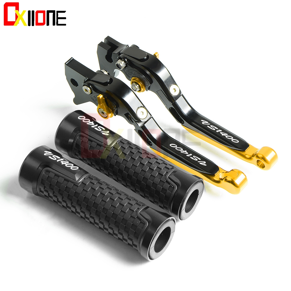 Motorcycle CNC Brake Clutch Levers Handlebar Grip Handle Hand Grips For <font><b>Suzuki</b></font> <font><b>VS1400</b></font> GLPH-GLPV VS 1400 GLPH-GLPV 1987 1988 1989 image