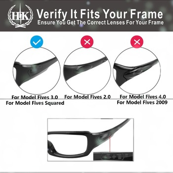 Hkuco For Fives 3.0 Sunglasses Replacement Polarized Lenses