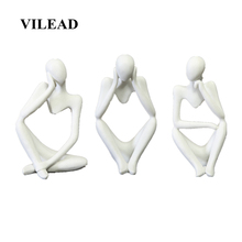 VILEAD 4.3 Natural Sandstone Meditation Thinker Statuettes Character Figurines Modern Ornament Home Decor New Year Decoration