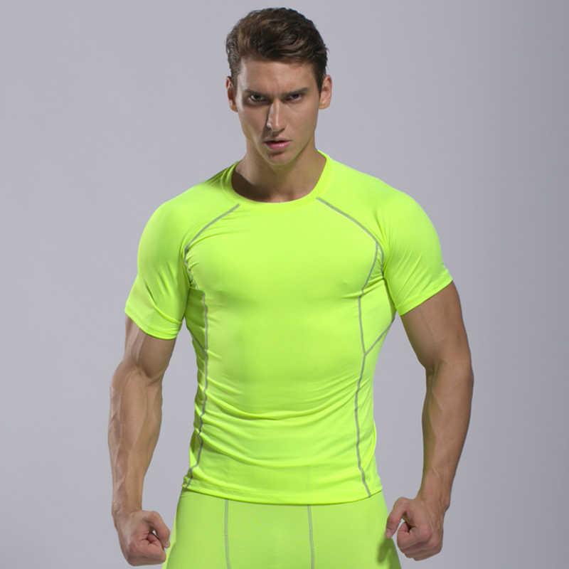Camiseta para correr de hombre, camiseta seca, Camiseta deportiva de Rashguard, Camiseta deportiva para hombre, Camiseta deportiva de compresión, camiseta de gimnasio