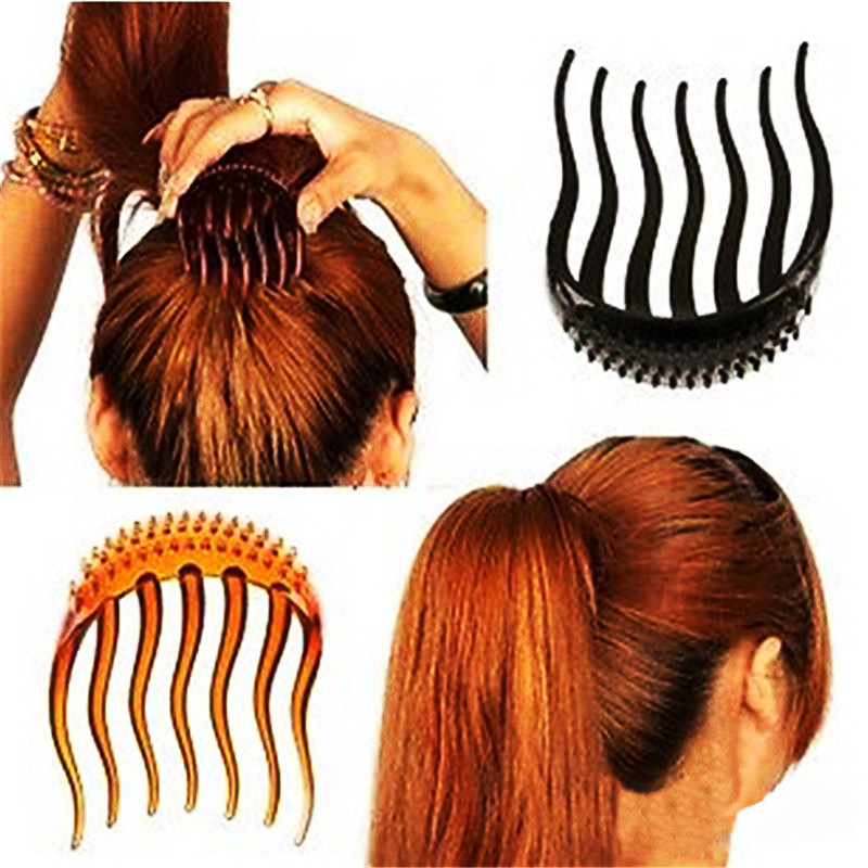 Hot Useful Bouffant Ponytail Hair Comb Women Girl Volume Inserts Hair Clip Bumpits  Style Maker Headband Hair Band Accessories