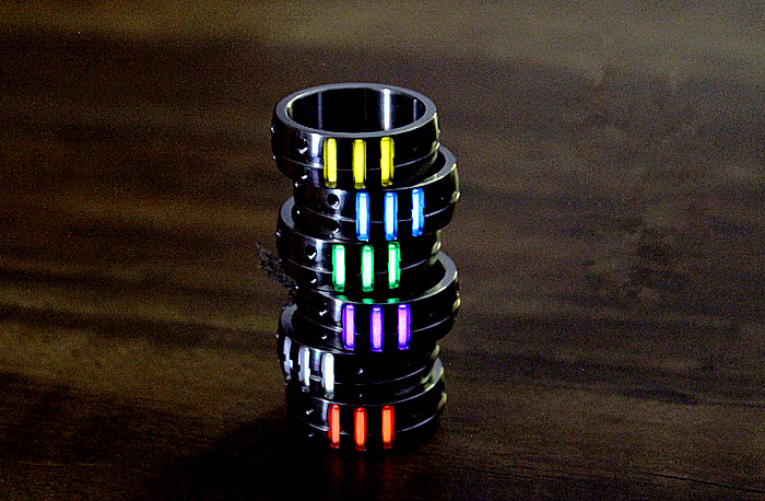 18mm Titanium Alloy Finger Ring with 3pcs Tritium Tubes for Men EDC Luminous Rings EDC Multi Tools for Women Jewelry Christmas
