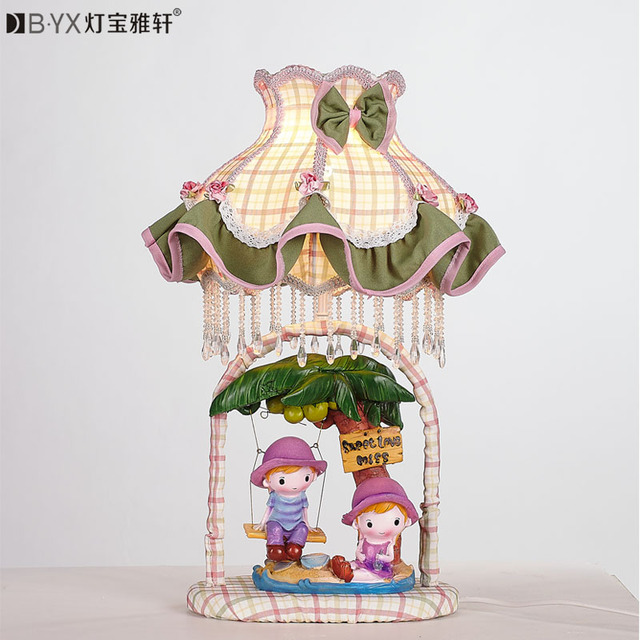 Cartoon LED lamp lovely children's bedroom bedside lamps and lanterns creative wedding table lamp night light