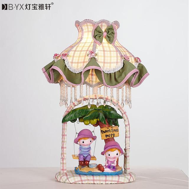 La historieta llevó la lámpara niños encantadores de lámparas dormitorios y linternas de mesa de boda creativa lámpara de luz nocturna