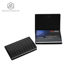 Monocarbon คาร์บอนไฟเบอร์ชื่อการ์ดกล่อง Holder หรูหราธุรกิจผู้ชาย Visiting Card กรณีกล่อง