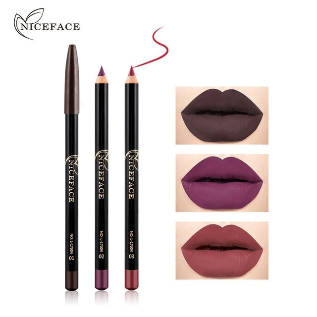 12 Colors Brand Lip Pencils Matte Lipliner Pencil Waterproof Makeup Lips 2018 Matte Lipstick Lip Liner Pen Smooth Nude Cosmetics 1
