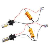 2pcs 1156 BAU15S PY21W Canbus Dual Color Amber White Switchback DRL LED Car Daytime Running Lights