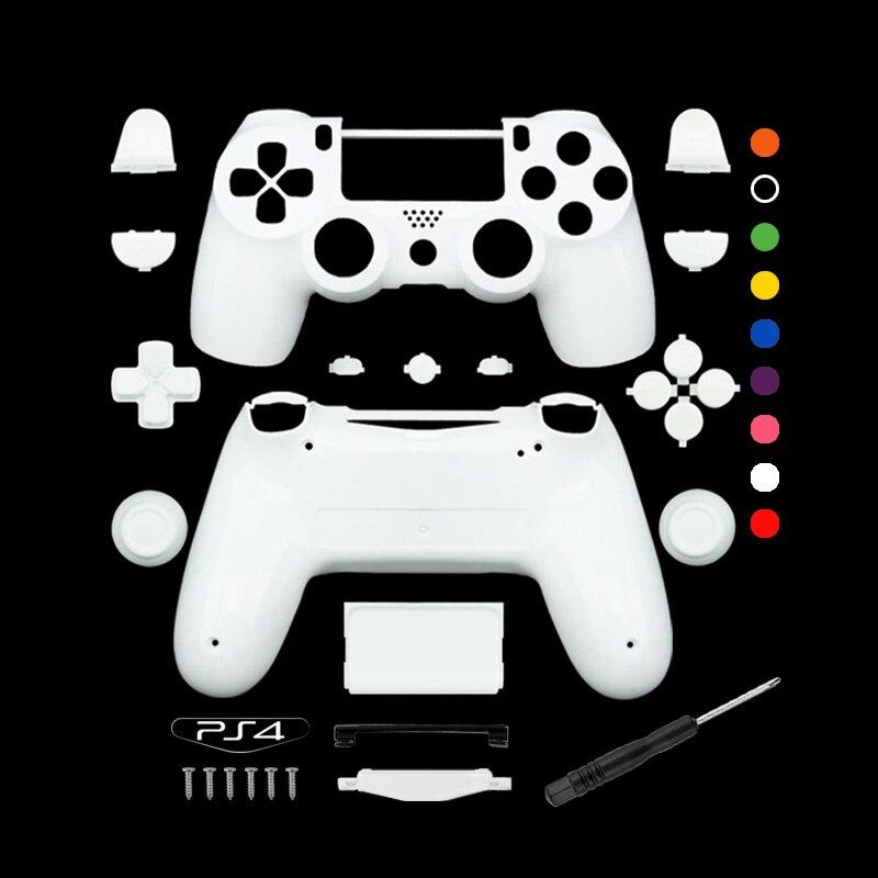 Benutzerdefinierte Mattes Weiß Ersatz Voll shell und tasten mod kit Für DualShock PlayStation 4 PS4 Controller Gehäuse Abdeckung Fall
