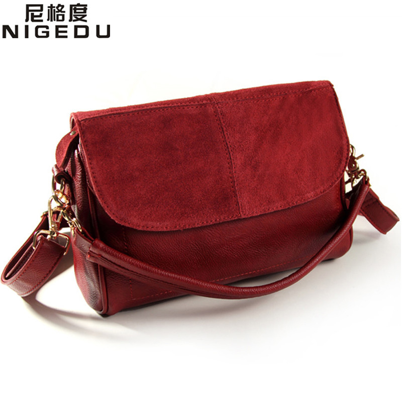 Genuine leather bag cowhide women messenger bags handbag women famous brands des