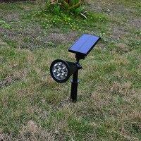 LED Solar Light ABS Waterproof IP65 7 LED Solar Power Garden Lamp Spotlight Outdoor Lawn