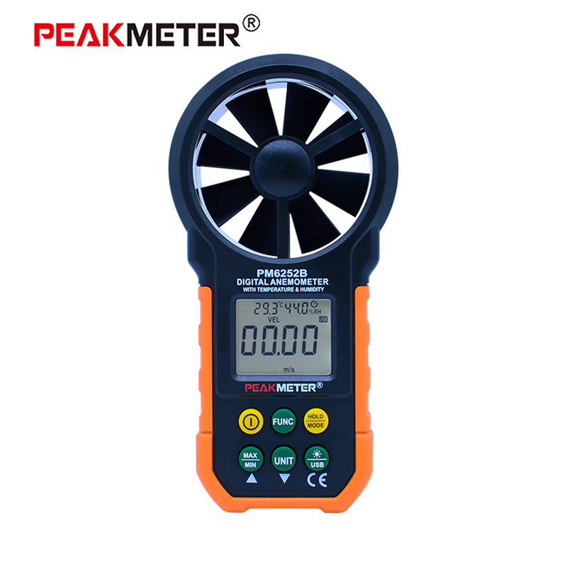 MS6252B Digital Anemometer Wind Speed Air Volume Measurement USB Data uploading Air Humidity Flow Meter x7dca l industrial motherboard 100