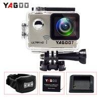 Action Camera 4K Deportiva Original YAGOO7 Novatek 96660 Remote Ultra HD WiFi 1080P 60fps Go Waterproof