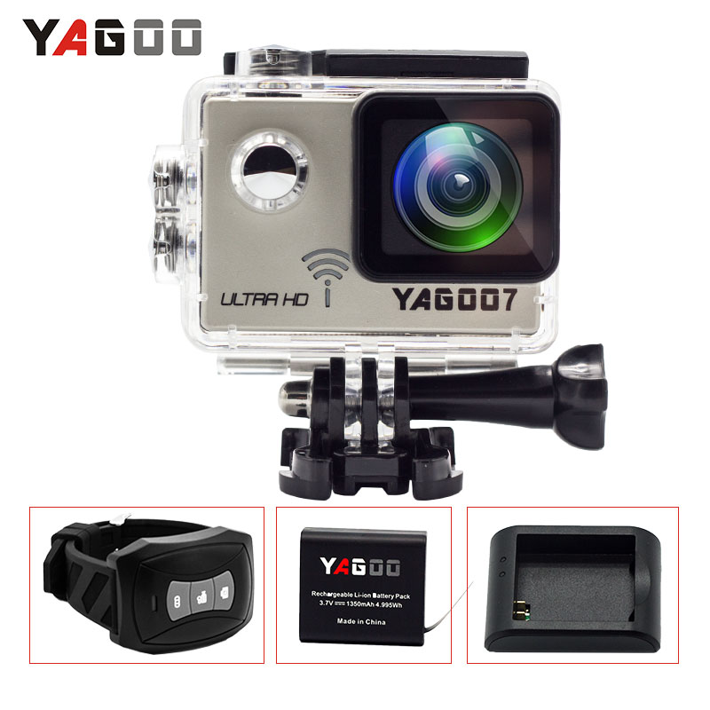 Action camera 4K deportiva Original YAGOO7 Novatek 96660 remote Ultra HD WiFi 1080P 60fps go waterproof pro Sport camera wimius 20m wifi action camera 4k sport helmet cam full hd 1080p 60fps go waterproof 30m pro gyro stabilization av out fpv camera