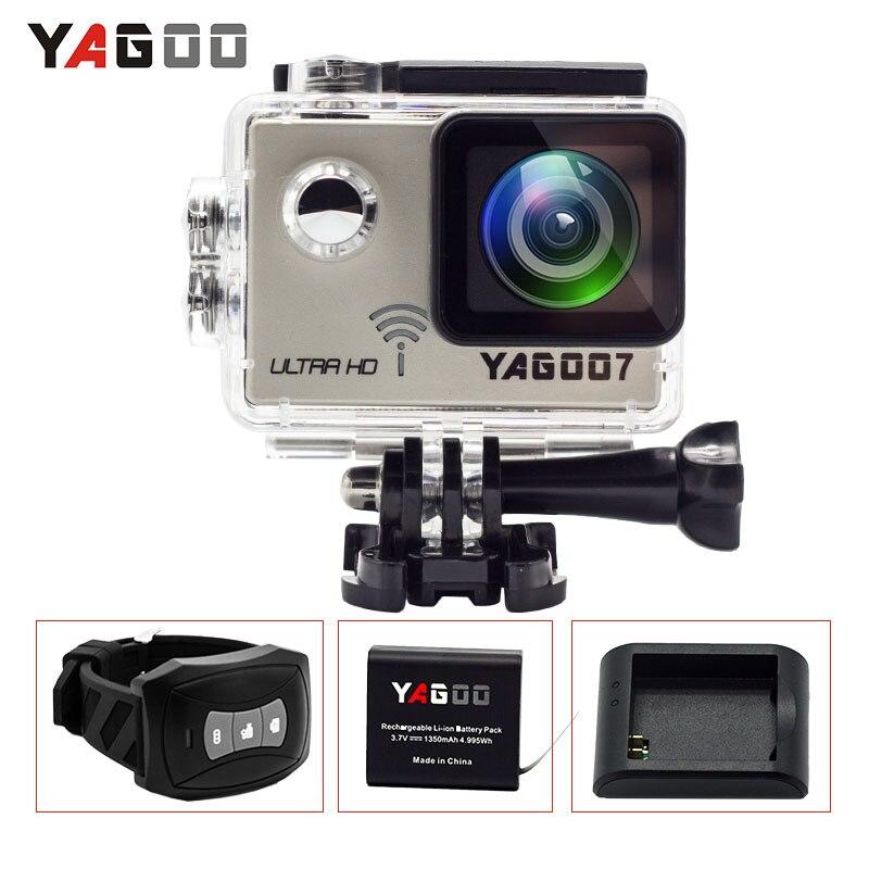 Action camera 4K deportiva Original YAGOO7 Novatek 96660 remote Ultra HD WiFi 1080P 60fps go waterproof pro Sport camera