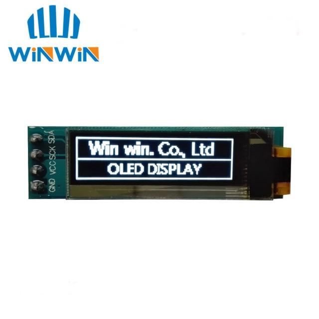 """D24 1pcs 0.91 inch OLED module  0.91"""" white/blue OLED 128X32 OLED LCD LED Display Module 0.91"""" IIC Communicate"""