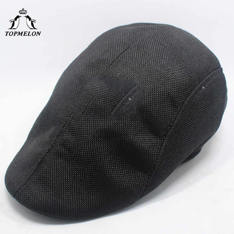 931197bbba4 ... TOPMELON Beret Hat Men s Fashion Accessories Solid Caps Cotton Material  Detective Cap Khaki White Black Brown ...