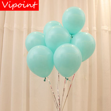 VIPOINT PARTY 100pcs 10inch red pink blue green latex balloons wedding event christmas halloween festival birthday party HY-362