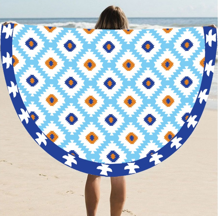 Round New Yoga Mat For Beach Trade Hot Style Sun Cape Towel St06-40