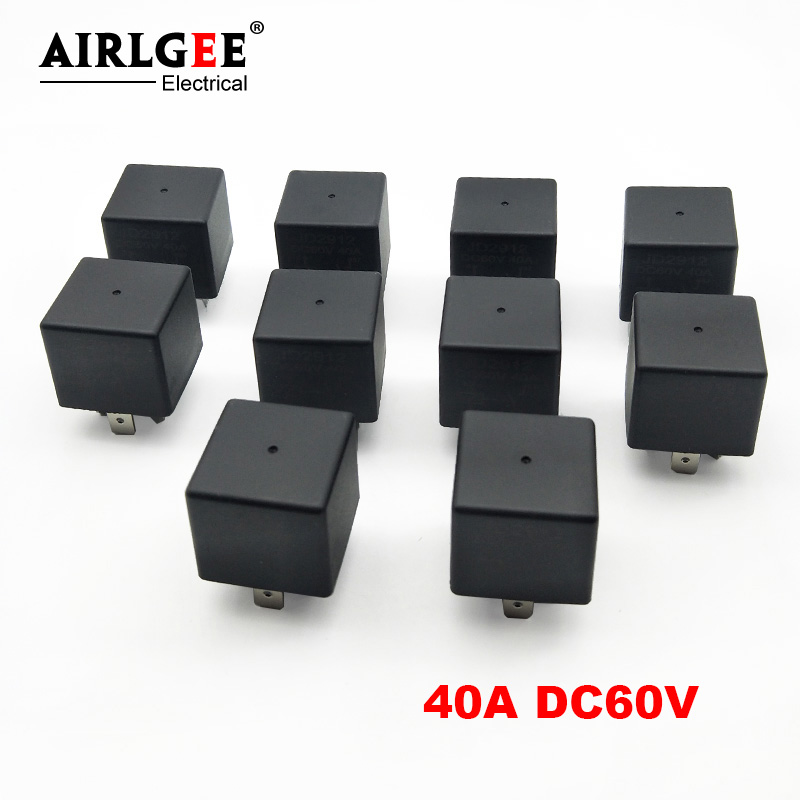 2 x 40A DC 12V Coil 1NO SPST 4 Pin Vehicle Automotive Car Power Relay