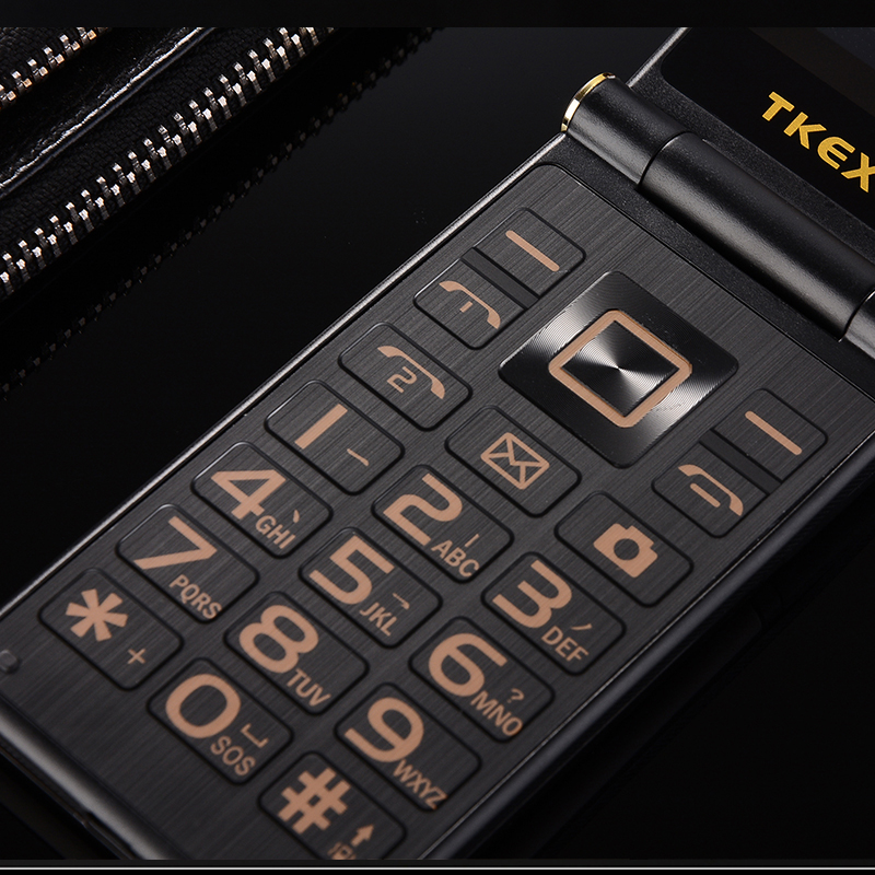 """Image 4 - TKEXUN Flip Touch HandwritingScreen 3.0"""" Display Telephone Speed DialSOS Metal Body Senior Not Smart Mobile Cell Phone-in Cellphones from Cellphones & Telecommunications"""