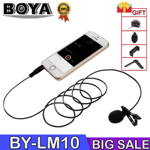 BOYA BY-LM10 BY LM10 Phone Audio Video Recording Lavalier Condenser Microphone for iPhone 6 5 4S 4 Sumsang GALAXY 4 LG G3 XIAOMI boya by lm10 by lm10 phone audio video recording lavalier condenser microphone for iphone 6 5 4s 4 sumsang galaxy 4 lg g3 xiaomi