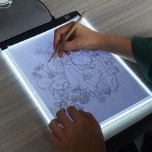 Светодиодный светильник ed доска для рисования краски холст A4 Настольный светильник в виде планшета блокнот эскиз книга пустой холст для акриловой акварельной краски подарок
